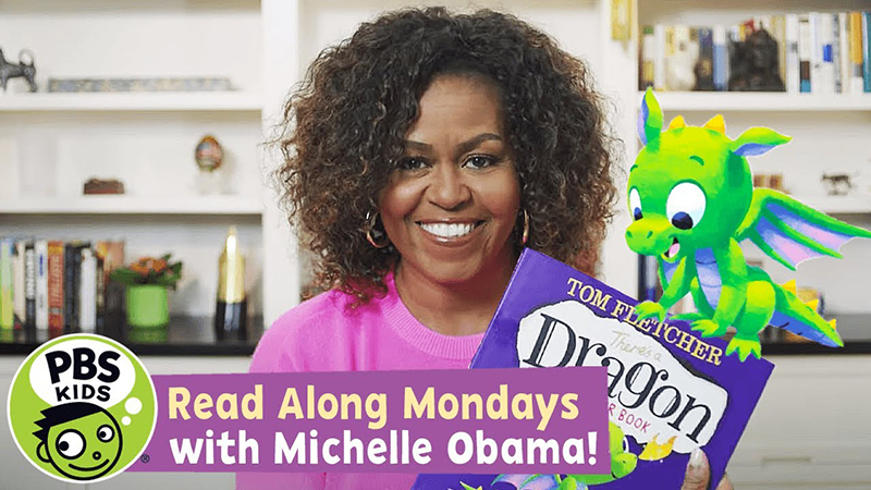 Read-Along with Michelle Obama: There's a Dragon in Your Book