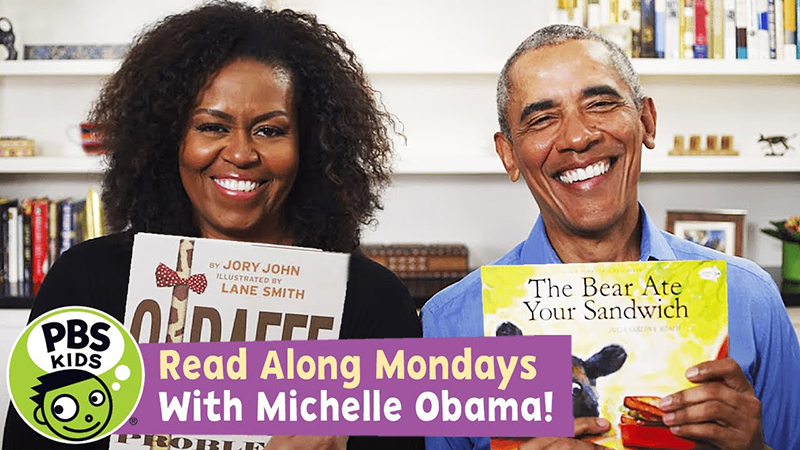 Read-Along with Michelle Obama: Giraffe Problems / The Bear Ate Your Sandwich