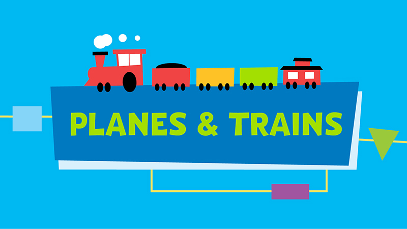 Wednesday, July 15 - Planes and Trains