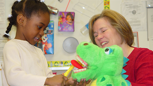 ThinkTV provides dozens of hands-on dental hygiene workshops for students each year
