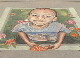 Florida chalk artists take to the streets